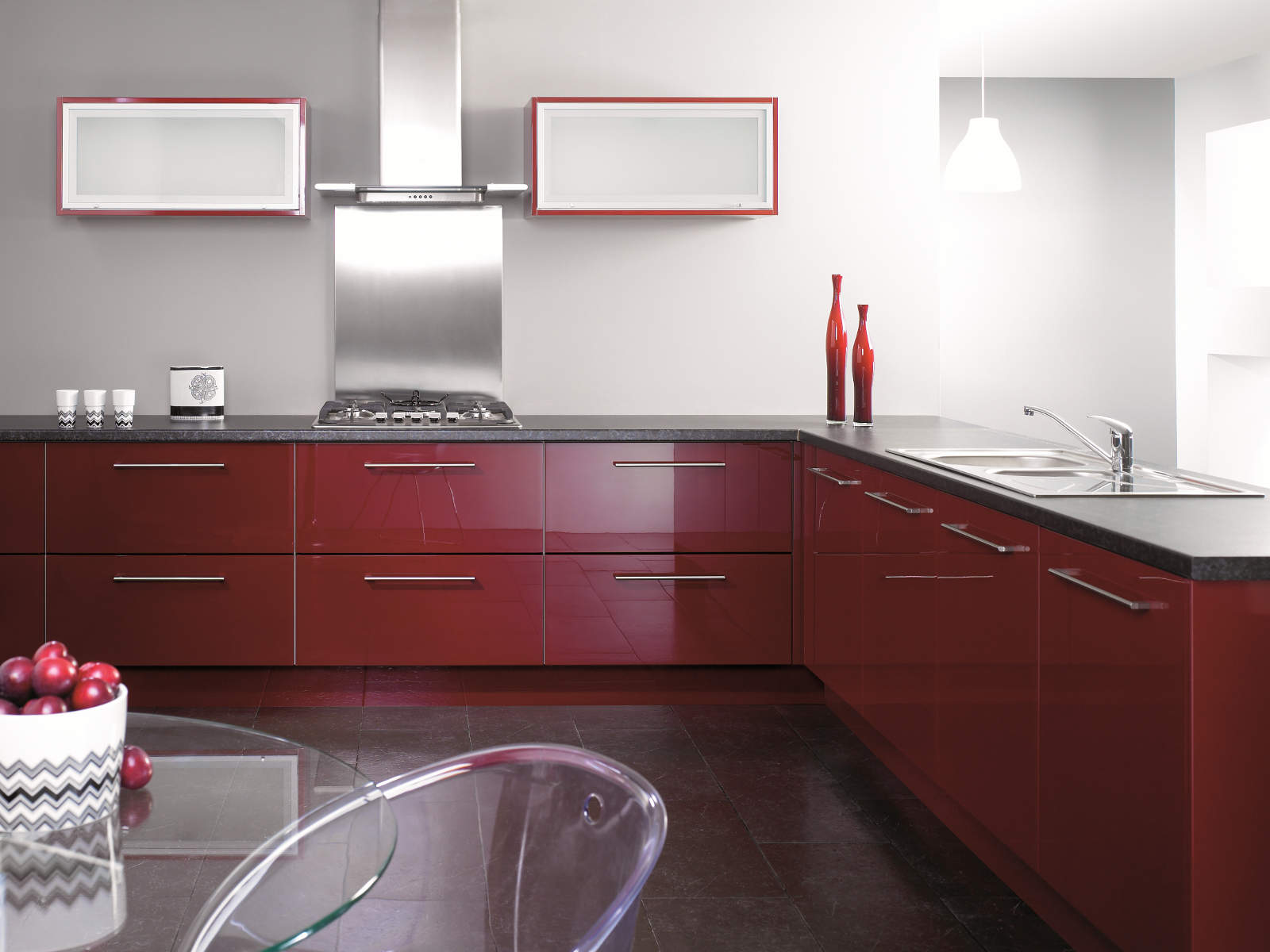 burgundy-kitchen